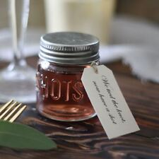 Shot Glass Wedding Favour Tags - We Tied The Knot Now Have A Shot  - Scroll