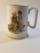 Norman Rockwell 1986 The Museum Coffee Cup Mug The Cobbler