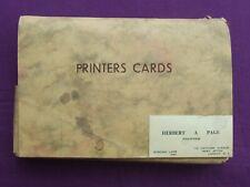 Letterpress Printing Adana COMPLETE SET OF FANCY CARD SAMPLES from 1963 Ephemera