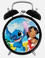 """Lilo & Stitch Alarm Desk Clock 3.75"""" Home or Office Decor E155 Nice For Gift"""