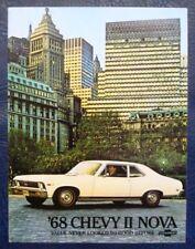 CHEVROLET II NOVA CAR SALES BROCHURE 1968 CANADIAN PRINT