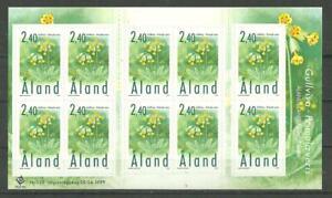 ALAND - Spring Flowers, Åland Islands full sheet 1999 MNH