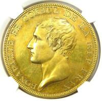1802 France Napoleon Gilt Bronze Peace of Amiens Medal - Certified NGC UNC (MS)