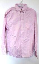 Lands' End Pink Long Sleeve 100% Cotton Oxford Dress Shirt 15 32/33