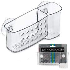 1 Bath Organizer Shower Caddy Bathroom Storage Basket Soap Holder Suction Cups