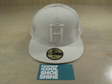 HUF SAN FRANCISCO H LOGO SATIN 3M NEW ERA FITTED HAT 7 1/2 WHITE SF