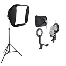 Portable Studio Soft Box Flash Speedlite Softbox Diffuser for Speedlight + Stand
