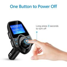 Bluetooth FM Transmitter Wireless Car Radio Receiver with 2 USB charger AUX TF