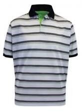 Proquip Striped Tech Performance Golf Polo White/Blue,Orange / Black Green S-XXL