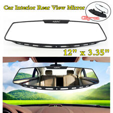 """12""""x3.35"""" Car Interior Clip-On Wide Angle Curve Convex Rear View Rearview Mirror"""