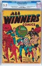 All Winners Comics #1 CGC 5.5 Timely 1941 Captain America Sub-mariner E5 121 cm