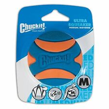 Chuckit! Ultra Squeaker Ball Natural Rubber Dog Toy Medium
