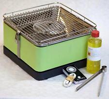 """Table barbecue Charbon de bois Feuerdesign """"Teide"""" vert menthe avec"""