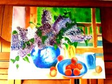 Original-One of a Kind-Oil on Canvas-Still Life- Signed-COA-Listed Artist