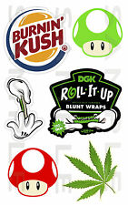Weed, Kit 03, Coche, etiqueta engomada, Jdm, Drift, van, Bicicleta