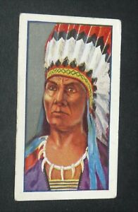 GODFREY PHILLIPS CIGARETTES CARD 1927 RED INDIANS #23 JOHN ROSS CHEROKEE