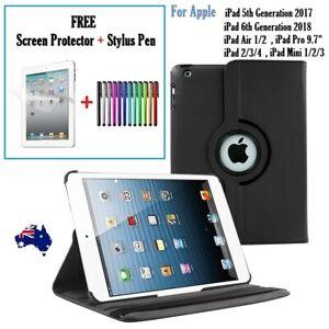 """360 Rotate Leather Case Cover For Apple iPad 6 5 4 3 2 Air 1/2 Pro 9.7"""" Mini AU"""