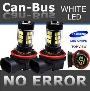 Samsung H11 42 LED 2nd Gen. Hyper Super White Fog Light Bulbs Direct Plugin C51