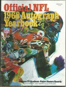 Official NFL; 1968 Autograph Yearbook; 1968