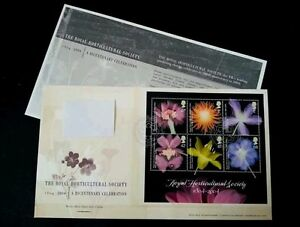 *FREE SHIP Britain The Royal Horticulture Society 2004 Flower Flora Plant (FDC)