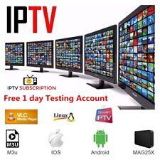 IP TV Premium Subscription 12 months premium Channel + VOD + Movies Live TV