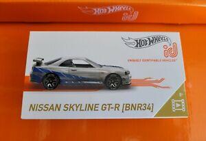 Hot Wheels Nissan Skyline GT-R R34 Silver 01/03 2021 ID Series 2 HW Screen Time