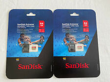 SanDisk Ultra SDXC UHS-(2)cards  (2-pack) =4 64 GB each