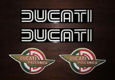 DUCATI - 4-teiliges Aufkleber-Set 2 x Ducati Königswelle gross + 2 x Meccanica