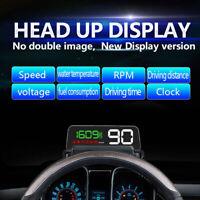 Digital Car OBD2 Speed Water Temperature HUD Head-up Display Speedometer Alarm
