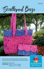 Scalloped Bags Pattern ~ Tote and Clutch ~ Poorhouse Quilt Designs ~ PQD-224