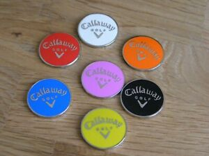 Seven Magnetic Callaway golf ball markers