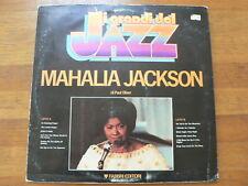 LP RECORD VINYL MAHALIA JACKSON THE WORLD'S JI GRANDI DEL JAZZ FABBRI EDITORI