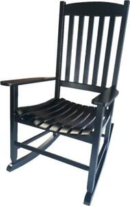 Outdoor Wood Porch Rocking Chair, Black Color, Weather Resistant by Mainstays
