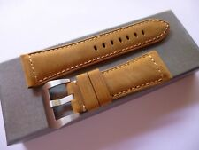 26/22mm Asso leather band - 26mm Strap Panerai style