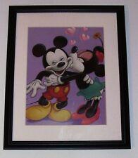 MICKEY  &  MINNIE  * SWEET ROMANCE *  12 X 15  MATTED  FRAMED ART PRINT by DISNE