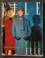 'ELLE' FRENCH VINTAGE MAGAZINE STYLE ISSUE 22 SEPTEMBER 1961