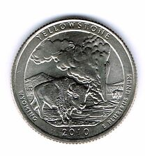 2010-P Brilliant Uncirculated Yellowstone National Park Quarter Coin!