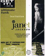 GET IT Rave Flyer Flyers A6 17/2/95 Melbourne Metro Australia Janet Jackson
