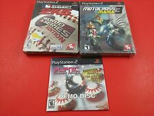 Bundle of 3 Playstation 2 Games - MLB 2K5, motocross mania 3, flipnic pinball