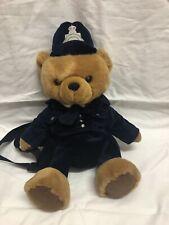 Vintage 1994 Keel Toys Policeman Teddy Bear Plush Backpack/rucksack