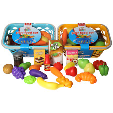 22 Pieces Play Food Set Fake Food Toys Grocery Shopping Role Play Kid Toy Gift