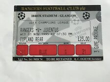 Rangers v Juventus   Ticket Mint 1995 Champions League