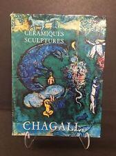 """Marc Chagall Catalogue, """"Les Ceramiques et Sculptures de Chagall"""""""