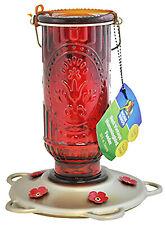 New listing Hummingbird Feeder, Red Vintage, 20-oz.