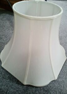 Large Quality Silky Cream Lamp Shade Stretched Fabric perfect condition