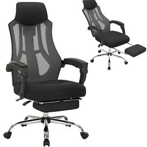 Bürostuhl, Schreibtischstuhl ergonomischer Computerstuhl mit Kopf- und Fußstütze