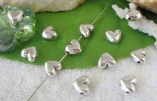 50pcs Tibetan silver heart spacer beads FC10475