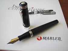 Marlen Odyseus Black Fine steel nib fountain pen MIB