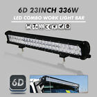 OSRAM 336W 23INCH LED Combo Work Light Bar Offroad Driving Lamp 4WD JEEP SUV 6D