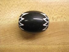 Large Black and White Chevron Trade Beads Gloss Finish